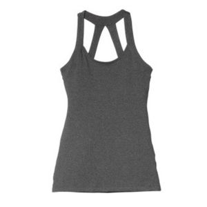 Beyond Yoga Multi Strap Tank Heathered Grey